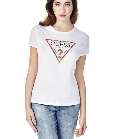 GUESS TRIANGLE STUD LOGO T-SHIRT