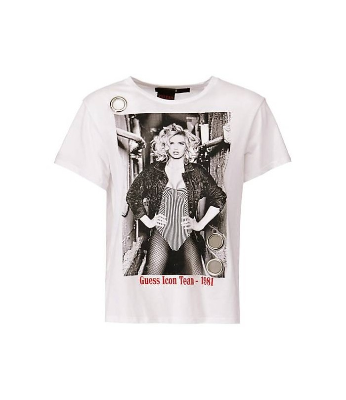 GUESS PRINTED FRONT T-SHIRT