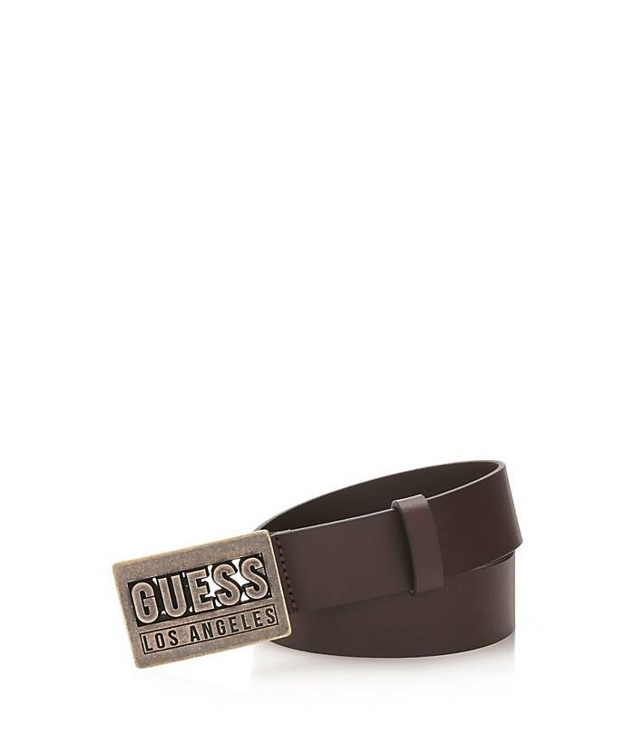 GUESS LEATHER BELT WITH LOGO DETAIL