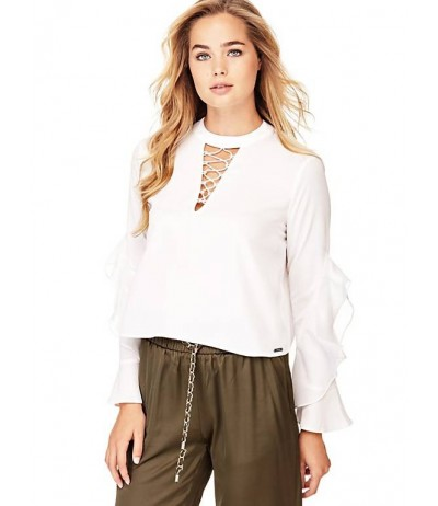 GUESS LACE-UP NECK SHIRT