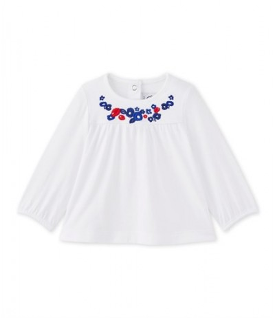 Petit Bateau Baby girl's long-sleeved blouse