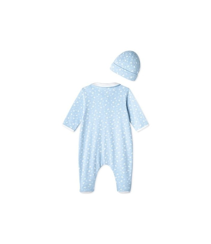 Petit Bateau Baby's sleepsuit and its newborn hat