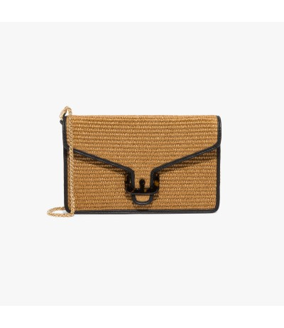 Coccinelle Ambrine straw and leather bag