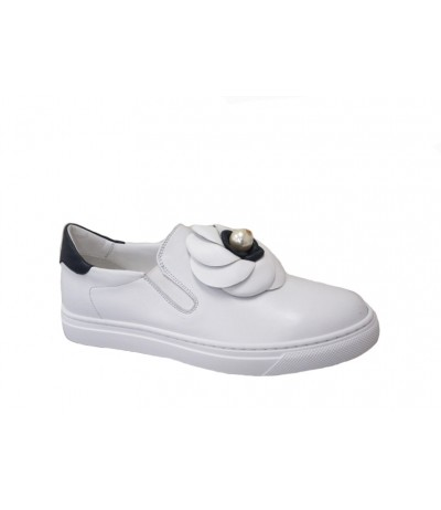 Baldinini SNEAKERS IN WHITE CALFSKIN