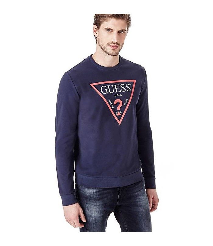 GUESS SWEATSHIRT WITH LOGO TRIANGLE