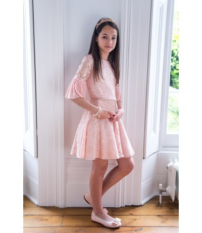 DavidCharles Pearl Pink Lace Birthday Dress