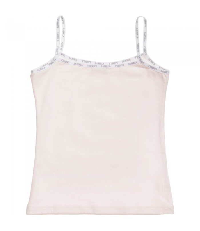 La Perla Girls Luxury Pink Cotton Vest