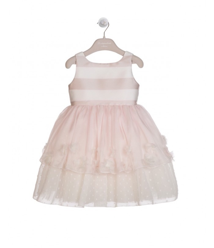 La Stupenderia Pink and Cream Dress