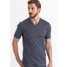HANRO Sporty Stripe V-Shirt Kurzarm