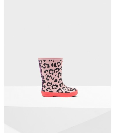 Hunter original kids first classic leopard print wellington boots