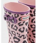 Hunter original kids leopard print wellington boots