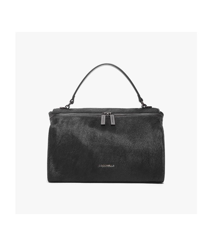 COCCINELLE Pony hair and leather handbag
