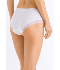 HANRO Cotton Lace Hi Cut Brief