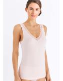 HANRO Cotton Lace Tank Top
