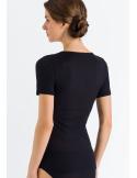 HANRO Lace Delight Short Sleeve Shirt