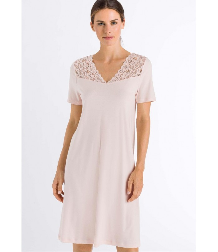 HANRO Moments Short Sleeve Gown