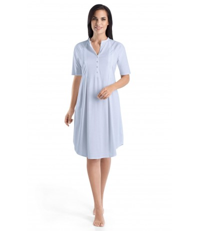 HANRO Short Sleeve Button Front Gown