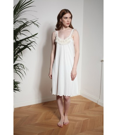 Flora Lastraioli Softness Jersey short Nightgown