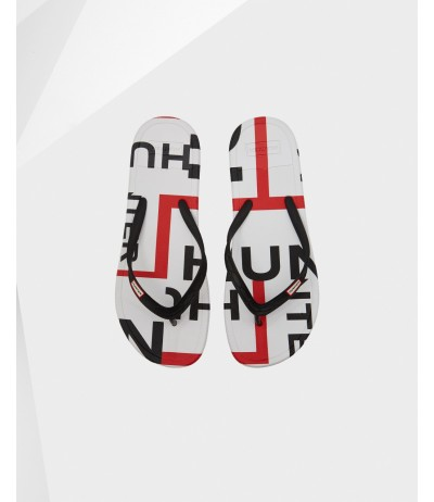 Hunter Men's Original Exploded Logo Flip Flop