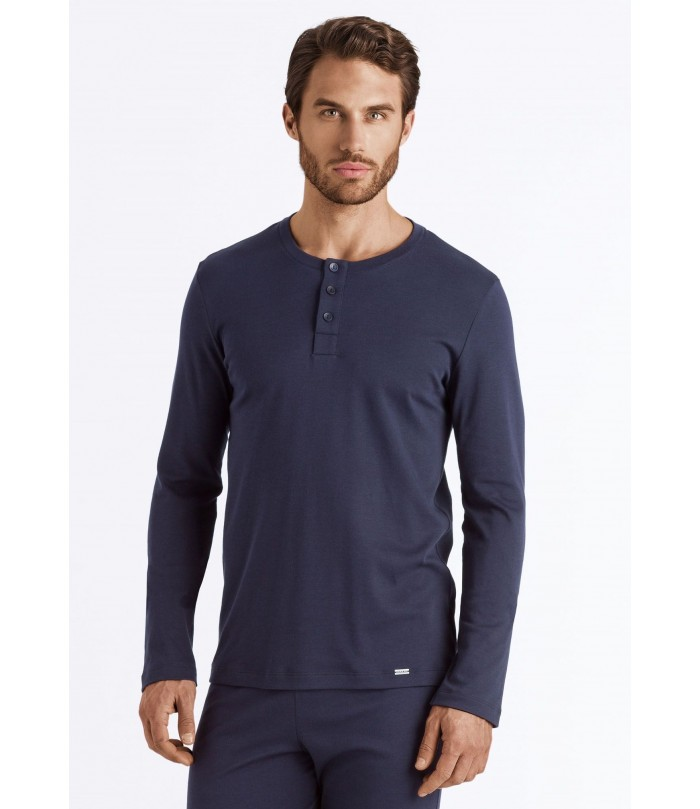 HANRO 'Thilo Long' Sleeve Henley Shirt