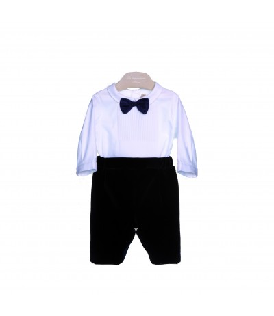 La Stupenderia Romper with Bow Tie