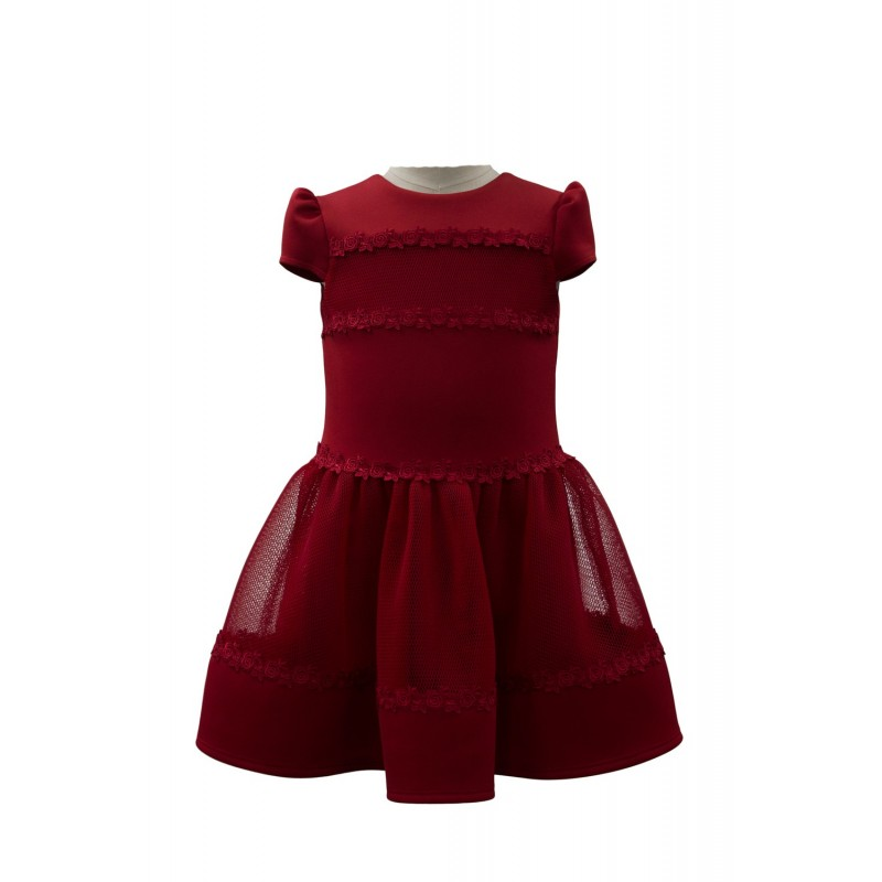 David Charles Crimson Red Holiday Dress