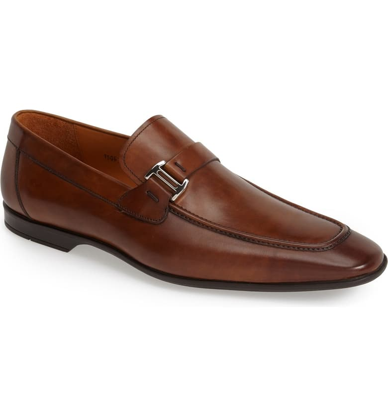 Magnani Lino Loafer Wide Width Brown Office Shoes for Men Picture