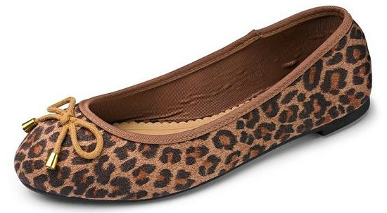 Sole Diva Basic Ballerina Wide Shoes Leopard